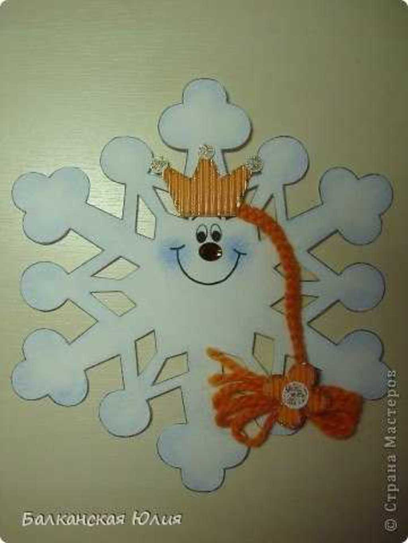 Забавные снежинки своими руками